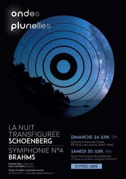 Affiche Ondes plurielles 2018 Schoenberg Nuit Transfigurée