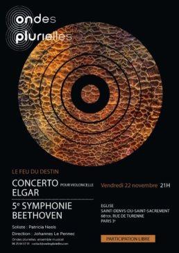 Affiche Ondes plurielles 2019 Elgar Beethoven
