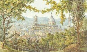 Félix Mendelssohn, Vue de Florence, aquarelle.
